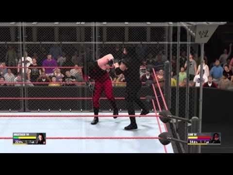 WWE 2K16 Undertaker walks the tightrope