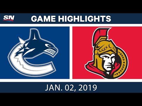 NHL Highlights   Canucks vs. Senators - Jan. 2, 2019