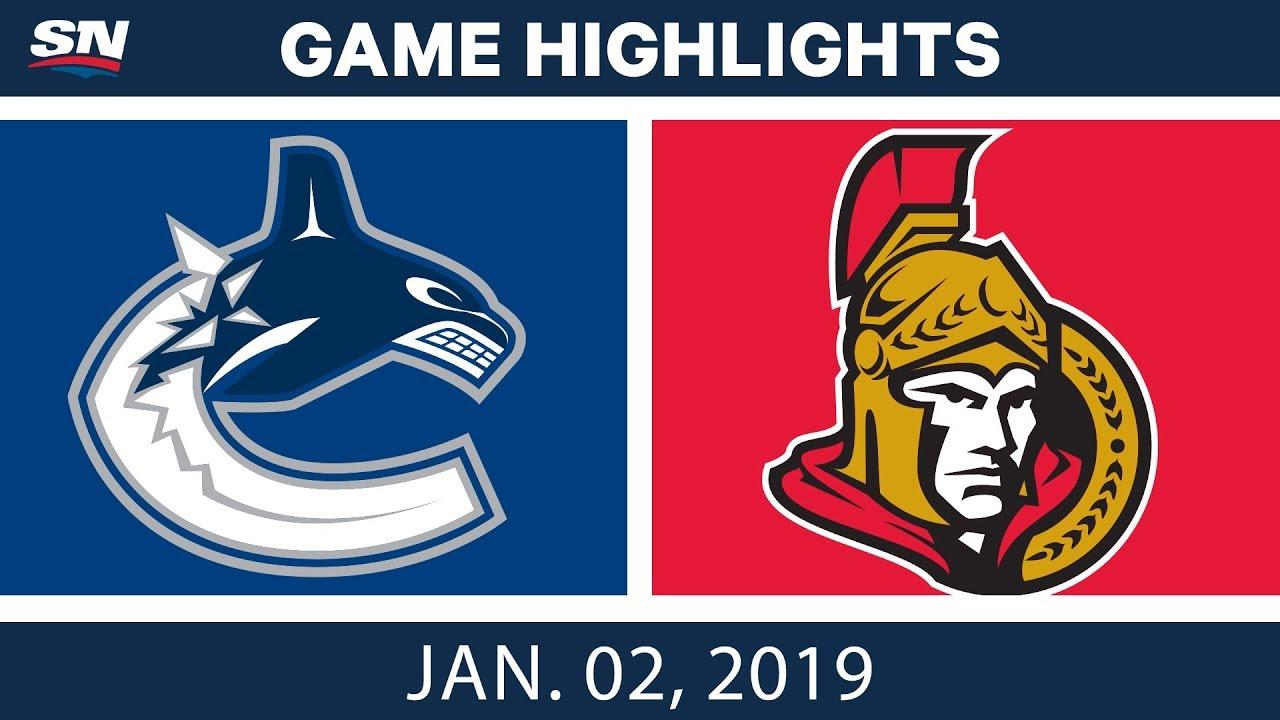 nhl-highlights-canucks-vs-senators-jan-2-2019