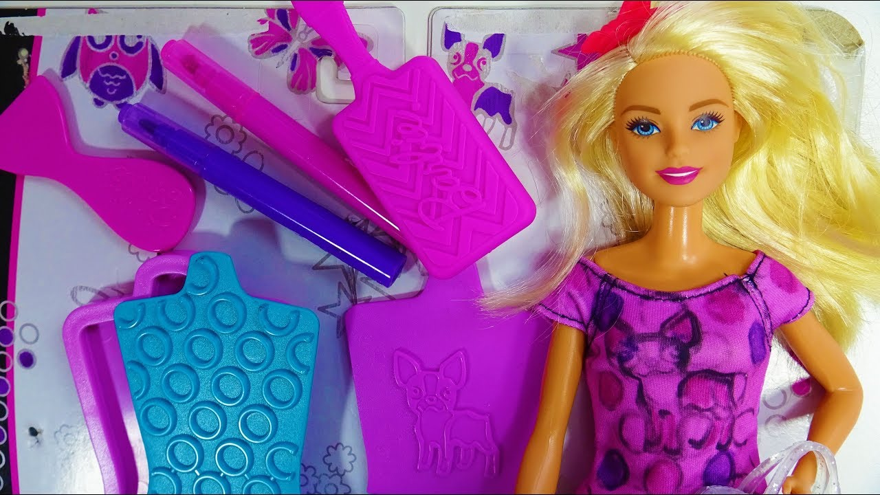 Barbie Fashion Design Plates Design Barbie Doll Dress Polly Pocket World Snow Secret Compact Youtube