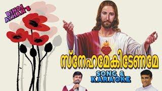 Snehamekedename song & Karaoke Fr. Binoj Mulavarickal Hits Malayalam Christian devotional songs