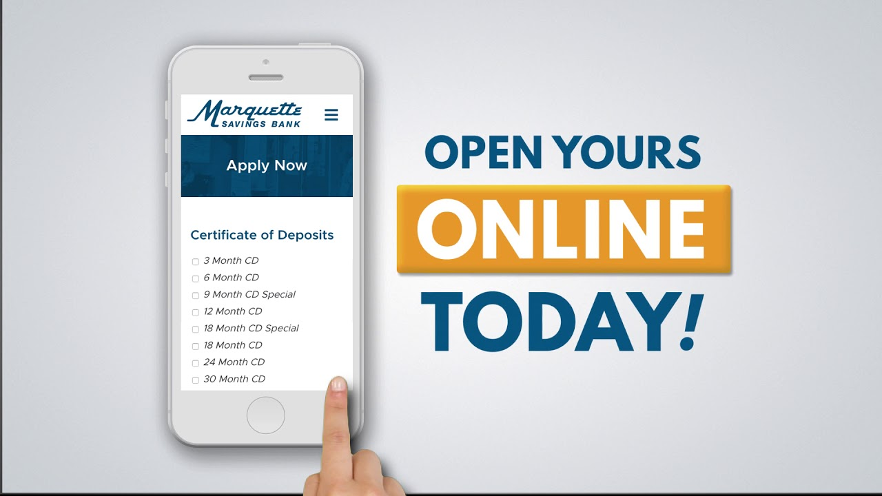 Marquette Certificate Of Deposit 10 Youtube
