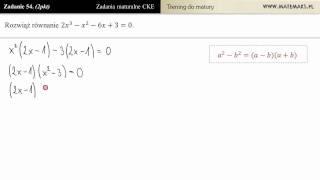 [Zad 54] Rozwiąż równanie 2x^3 - x^2 -6x + 3 (trening do matury)