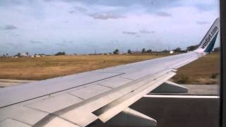 WestJet Boeing 737-700 Take Off from Barbados