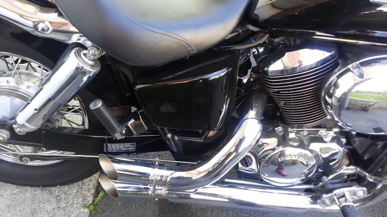 Honda Shadow Custom Exhaust Youtube