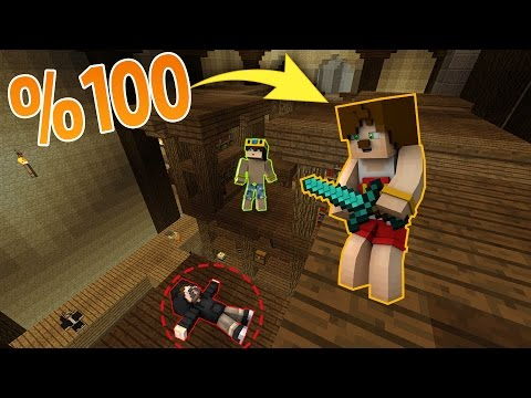 %100 GÖRÜNMEZ KATİL OLDUM ! MİNECRAFT KATİL KİM #8 - Видео из Майнкрафт (Minecraft)
