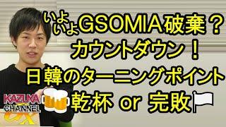 韓国GSOMIA破棄カウントダウン!?日韓関係の転換点!「かんぱ~い」は乾杯になるか完敗になるか?