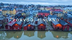 Porvoo, Finland - A Colourful, Medieval Town in Finland (4K Tour of the Old Town)