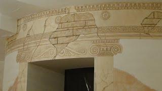 Мастер класс Барельеф ротонды из гипсовой шпаклевки и декоративной штукатурки своими руками