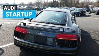 2017 Audi R8 V10 Plus Startup Exhaust Sound