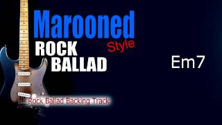 Marooned Rock Ballad Guitar Backing Track 73 Bpm Highest Quality