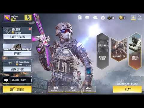 PLAYING CALL OF DUTY MOBILE IOS!!!