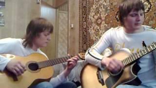 Игра на гитаре-Любэ-Давай за (COVER)