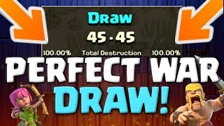 PERFECT WAR DRAW! Clash of Clans 3 Star Attacks