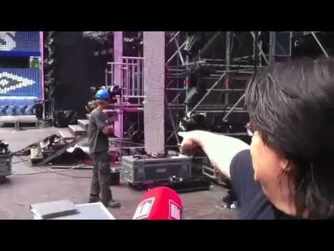 the Bild backstage  @ Stadium Techno Inferno, Imtech Arena Hamburg, Germany