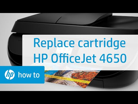 Replacing a Cartridge on the HP OfficeJet 4650 Printer