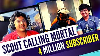 Scout Phone Call mortal on 4 million | Scout on Mortal Vs Carry Challenge