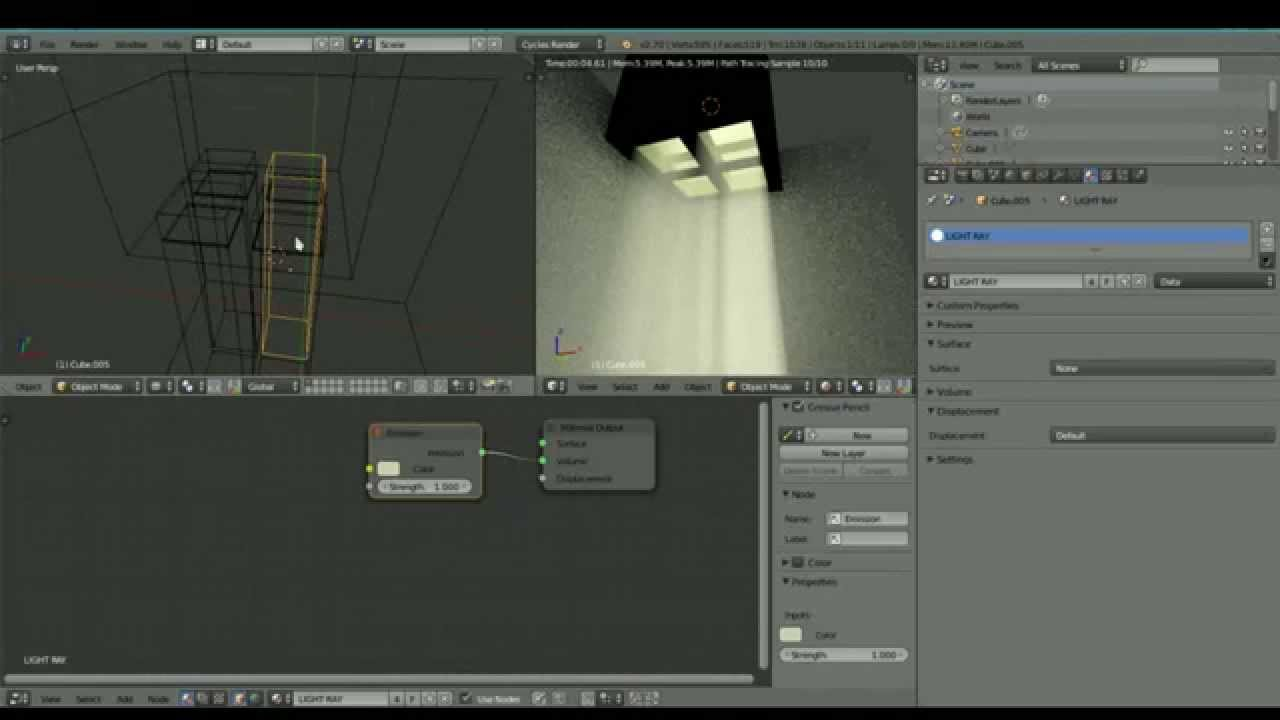 Blender Cycles 2.7+ : Volumetric Light From a Window [Part 1/6 ...