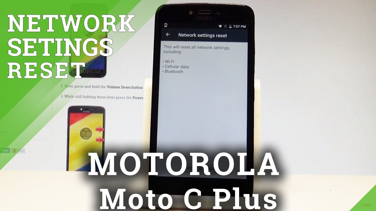 How to Reset Network Settings on MOTOROLA Moto C Plus - Reset Saved Wi-Fi  |HardReset Info