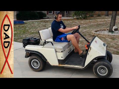 Gas EZ GO golf cart upgrade and fix - YouTube