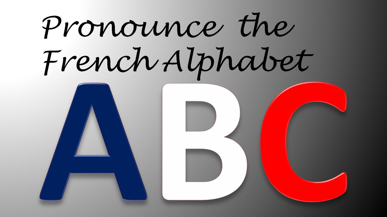 Pronounce The French Alphabet With Phonetic And English Transcripts Youtube