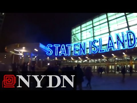 Eric Garner Protesters at Staten Island Ferry (Graphic Language)