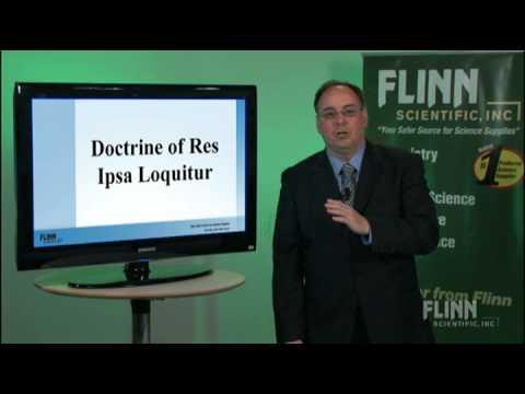 Doctrine of Res Ipsa Loquitur