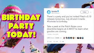 FORTNITE BIRTHDAY PARTY UPDATE TODAY! v5.1 PATCH UPDATE