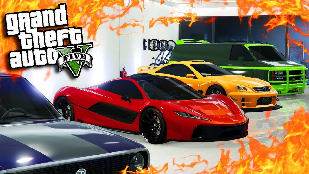 Gta online triple garage tour on ps4 fully customised fastest racing cars gta 5 car showcase