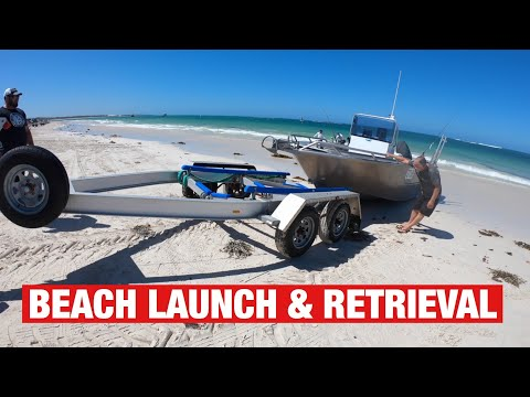 BEACH BOAT LAUNCH AND RETRIEVAL (AMAZING TO WATCH) | LEDGE POINT - EP 14