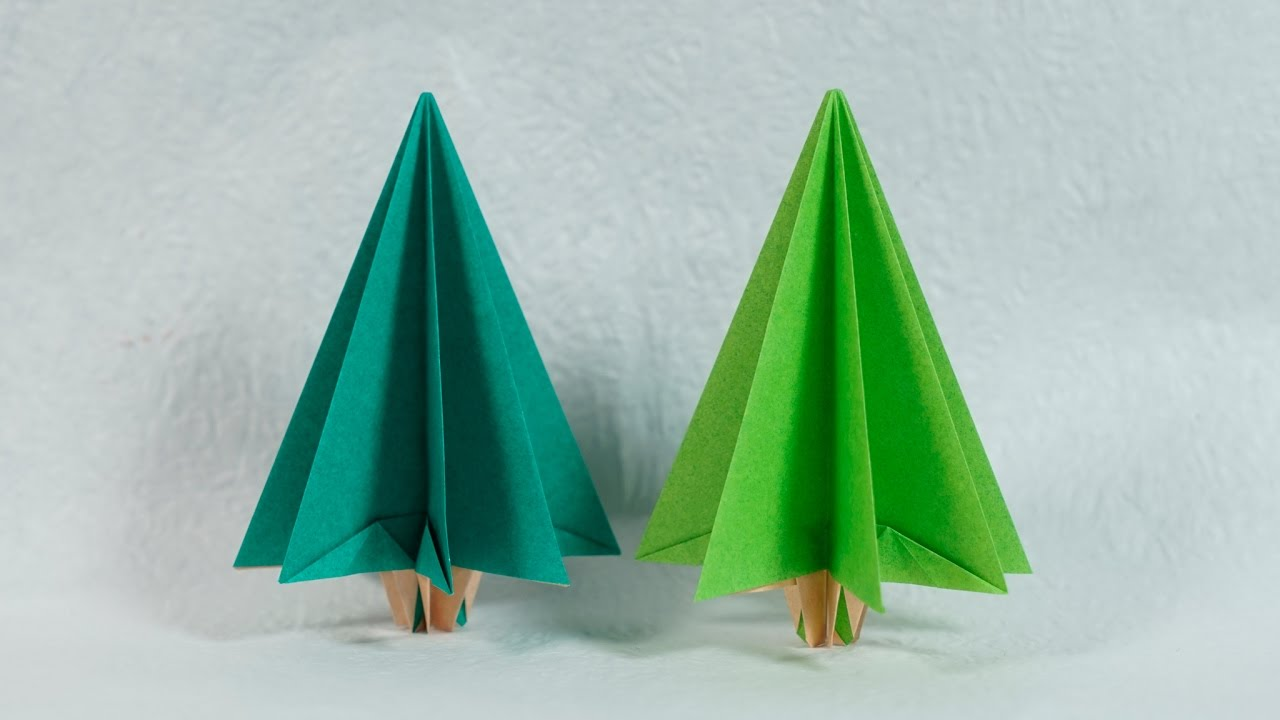 Easy Paper Tree - Origami Christmas Tree Tutorial (Henry ...
