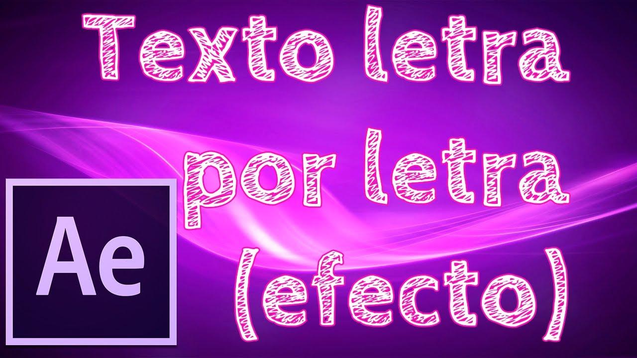 Tutorial After Effects CC: Crear efecto de texto letra por letra ...