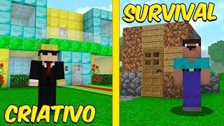 CRIATIVO VS. SURVIVAL NO MINECRAFT!