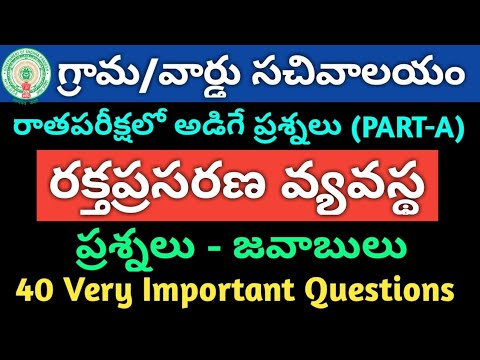 AP Grama/Ward Sachivalayam Model Question Paper-90   General Science Important Questions