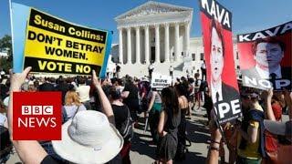 Brett Kavanaugh: Supreme Court protests rock Capitol Hill - BBC News
