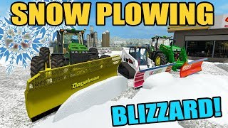 FARMING SIMULATOR 2017 | SNOW PLOWING AFTER THE BLIZZARD | JD 8530 + 7R + BOBCAT 770