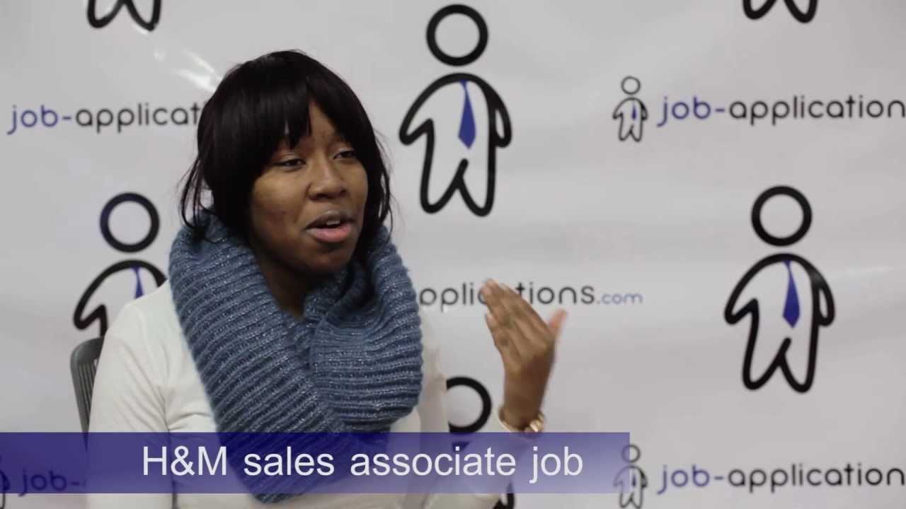 Application for sales advisor with H&M I am applying for H&M because I am always really impressed with their customer service and I believe that I could be a great asset to the team there. I love talking and helping people so in a sales oriented environment, I would be able to talk to countless people per day.