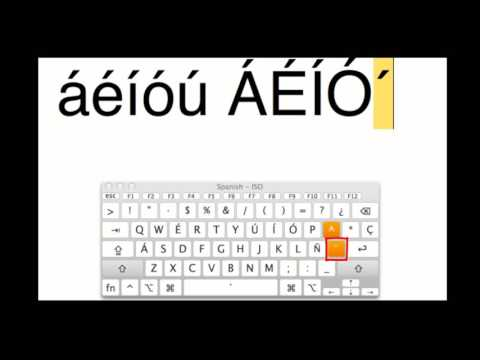 Typing Accents on a MAC (Spanish Keyboard Layout)
