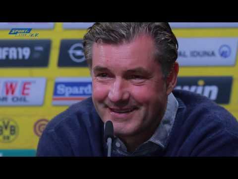 BVB-PK vor Mainz mit Lucien Favre und Michael Zorc