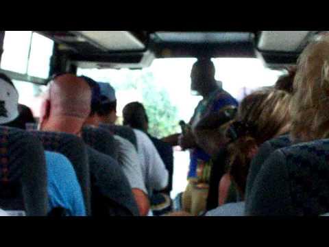 Jamaica - Tourist singing with tour guide Dalton