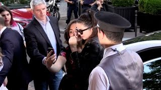 EXCLUSIVE : Kendall Jenner les out of Chanel fitting to hotel in Paris