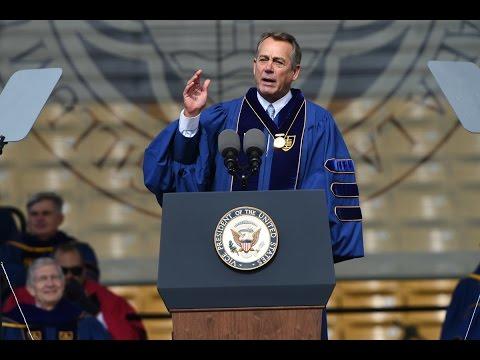 Notre Dame Commencement 2016: Former Speaker of the House John Boehner's Laetare Speech