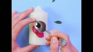 طريقة تزيين الشموع بالورد المجفف