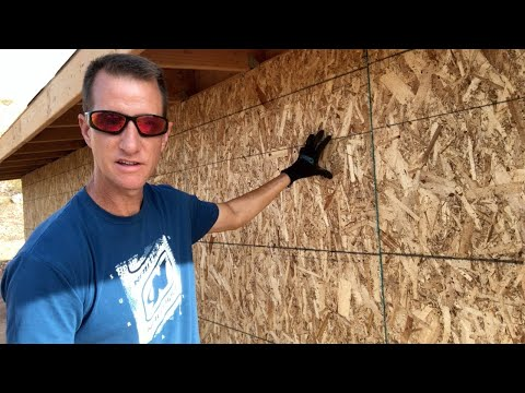 12'x24' DIY Shed Build (Part 5 – Wall Sheathing)