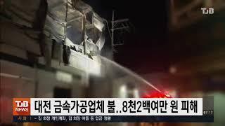 대전 금속가공업체 불..8천2백여만 원 피해| TJB …