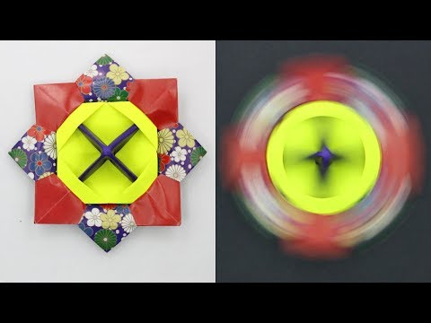 How to make Paper Spinner, Easy Basic Simple Origami for Beginners kids,  DIY Crafts Work Ideas Art
