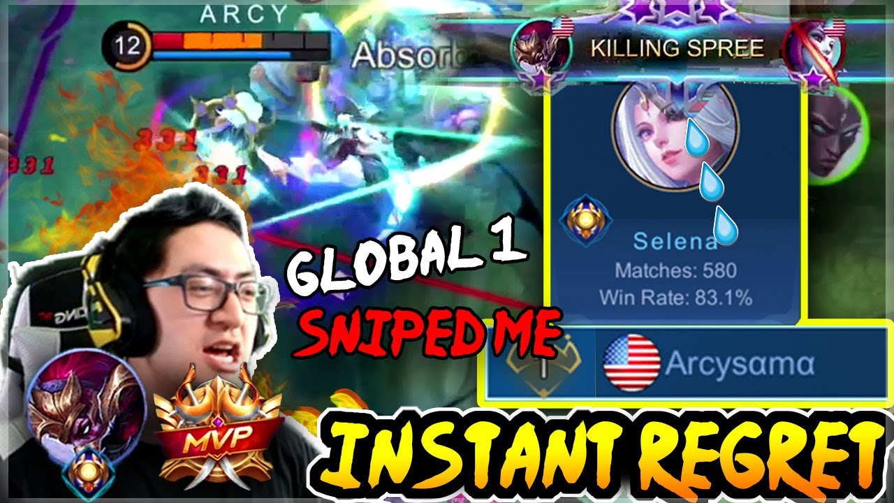 Global 1 Selena vs Global Hanzo, INSTANT REGRET | Mobile Legends