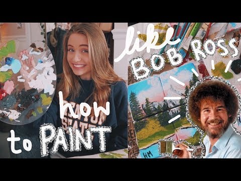 PAINT WITH ME | Bob Ross Coasters For Beginners 🎨