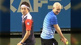 ドリームテニスARIAKE2013 錦織圭 VS Jマッケンロー