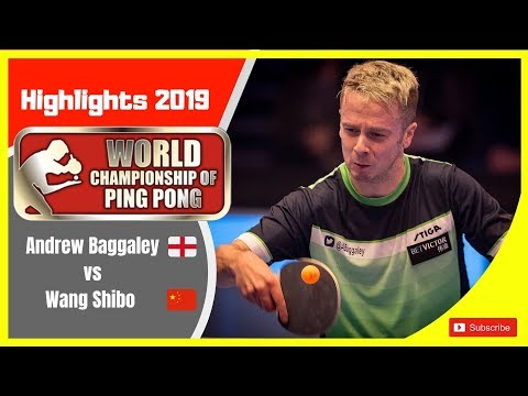 Andrew Bagggaley(England) Vs Wang Shibo(China)World Championship Of Ping Pong 2019
